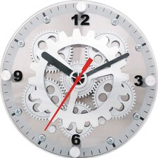"6"" Moving Gear Wall / Desktop Clock"