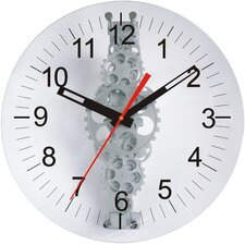"24"" x 24"" Large Moving Gear Wall Clock with Glass Cover"