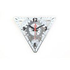"13"" x 15"" Moving Gear Wall Clock with Glass Cover"