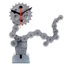 Moving Gear Table Clock