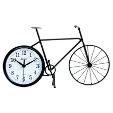 <strong>Maples Clock</strong> Silhouette Bicycle Table Clock