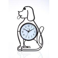 Silhouette Dog Table Clock
