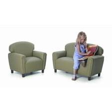 "<strong>Brand New World</strong> Brand New World ""Just Like Home"" Enviro-Child Upholstery Sofa and Chair Set"