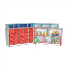 Hinged Storage Unit With Cubbies