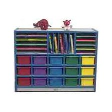 20-Tray Cubbie Unit with Letter Slots and Trays