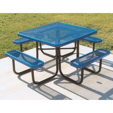 Square Picnic Table with Diamond Pattern