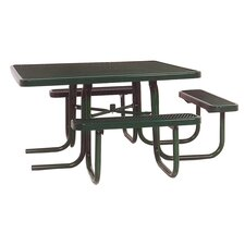 <strong>Ultra Play</strong> 3-Seat ADA Square Picnic Table with Diamond Pattern