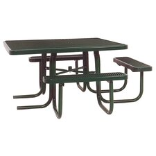 <strong>Ultra Play</strong> 3-Seat ADA Square Picnic Table with Perforated Pattern