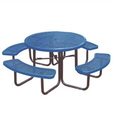 <strong>Ultra Play</strong> Round Picnic Table with Diamond Pattern