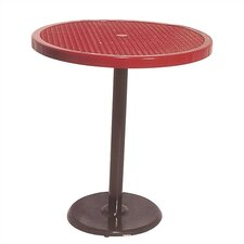 <strong>Ultra Play</strong> Portable Round Food Court Picnic Table with Perforated Pattern