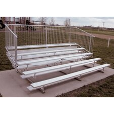 <strong>Ultra Play</strong> Five-Row Aluminum Bleacher with Guardrails