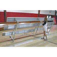 <strong>Ultra Play</strong> Tip N Roll Three-Row Aluminum Bleacher