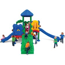 <strong>Ultra Play</strong> Discovery Center 5 Deck Play Structure with Roof