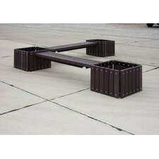 <strong>Ultra Play</strong> UltraSite Recycled Plastic Bench with 3 Planters
