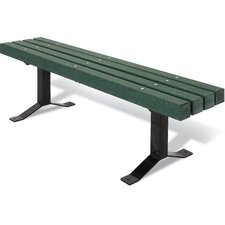 <strong>Ultra Play</strong> UltraSite Recycled Plastic Backless Surface Mount Bench