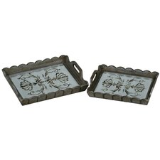 Mirrored Tray (Set of 2)