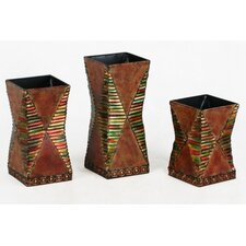 Metal Vase Candle Holders (Set of 3)