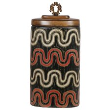 <strong>Privilege</strong> Ceramic Wave Decorative Canister