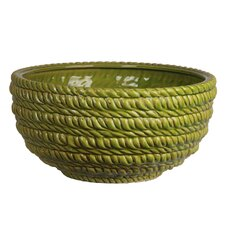 Ceramic Braided Decorative Bowl