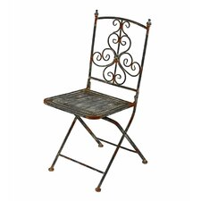 <strong>Privilege</strong> Iron Scroll Folding Chair