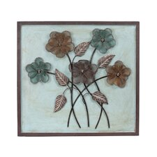 Mounted on Wood Iron Wall Decor