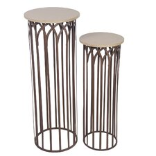 2 Piece Multi-Tiered Plant Stand Set