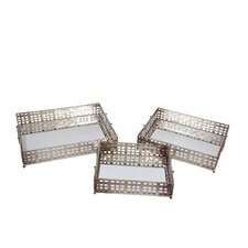 3 Piece Iron Tray Set