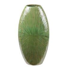 Ceramic Flat Vase