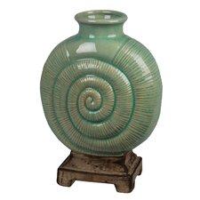 Ceramic Flat Spiral Vase