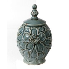 Vintage Crackle Lidded Vase