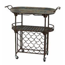 Iron and Wood Wine Rack