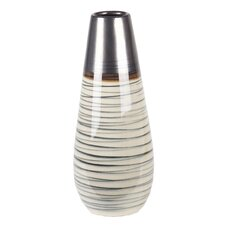 Spun Metallic Ceramic Vase