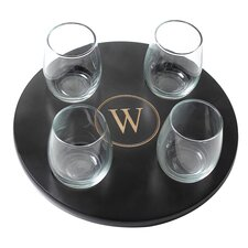 4 Piece Stemless Wine Glass Set