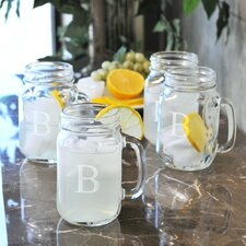 Old Fashioned Drinking Mason Jar (Set of 4)