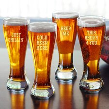 <strong>Cathys Concepts</strong> Cold Beer Here Pilsners (Set of 4)