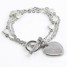Triple Strand Heart Bracelet