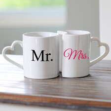 Gifts 10 oz. Personalized Heart Mug (Set of 2)