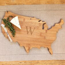 Personalized USA Wooden Serving Board
