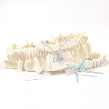 "Embroidered ""I Do"" Wedding Garter"