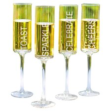 Celebrate! Champagne Flute (Set of 4)