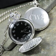Face Silver-Plated Pocket Watch