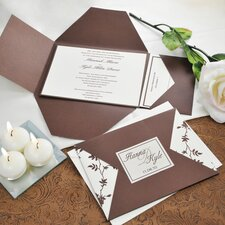 <strong>Cathys Concepts</strong> Brown and Ivory Vintage Invitations Kit