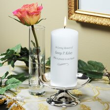 Silver-Plated Metal Unity Candlesticks (Set of 3)