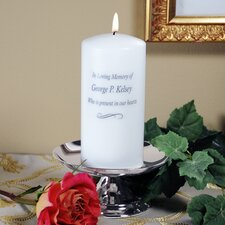 Silver-Plated Metal Personalized Memorial Votives (Set of 2)