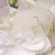 5 Piece Traditional Pearl Flower Girl Jewelry Set in White