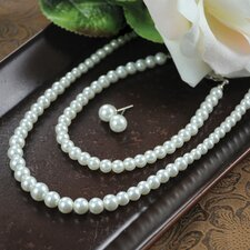 Graduated 3 Piece Cultured Pearl Jewelry Collection
