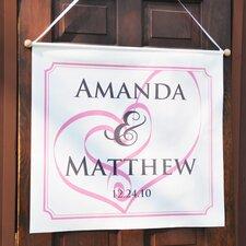 Embracing Hearts Custom Wedding Banner