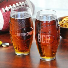 <strong>Cathys Concepts</strong> Custom Glass Football Tumbler