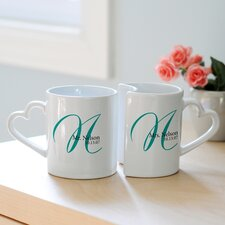 Gifts 10 oz. Personalized Initial Mug (Set of 2)