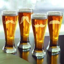<strong>Cathys Concepts</strong> Gentleman's Mustache Pilsners (Set of 4)